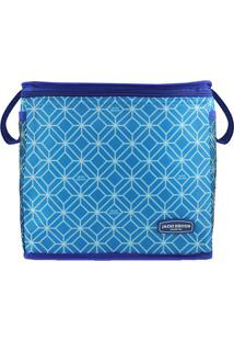 Bolsa Térmica Geométrica- Azul Azul Escuro- 27X24Xjacki Design
