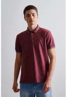 Camisa Polo Pf Friso Rajado Prim 19 Reserva Masculina - Masculino-Bordô