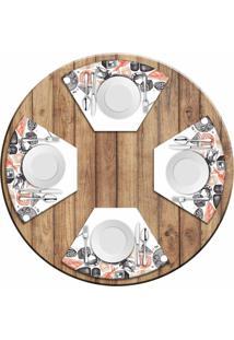 Jogo Americano Love Decor Para Mesa Redonda Wevans Menu Sushi Kit Com 4 Pçs