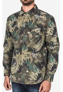 Camisa Hermoso Compadre Flanela Tropical Masculina - Masculino-Verde