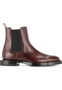 Alexander Mcqueen Ankle Boot De Couro - Marrom