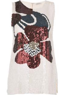 P.A.R.O.S.H. Blusa Com Paetês - Branco