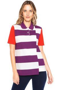 914d572abcfc2 Camisa Pólo Listras Ombro feminina   Gostei e agora