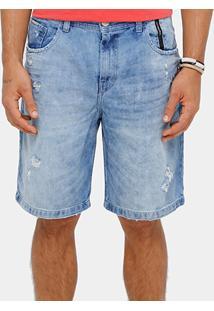 Bermuda Jeans Ellus 2Nd Floor Lush Destroyed Masculina - Masculino