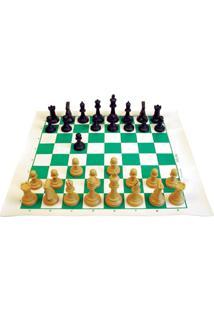 Xadrez Profissional Ltabuleiro 45X50Cm Figuras De 10 Cm Mochila