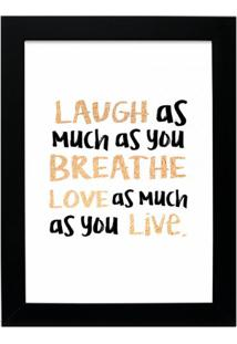Quadro Decorativo Laugh Preto