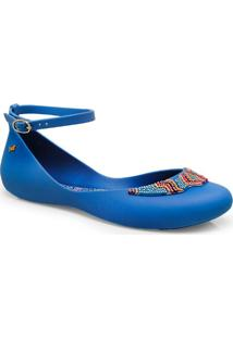 Sapatilha Fem Grendene 16618 Zaxy Look Sap Ad Azul/Rosa