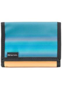 Ps Paul Smith Carteira Com Patch De Logo - Azul