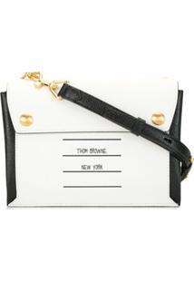 Thom Browne Logo-Patch Shoulder Bag - Branco