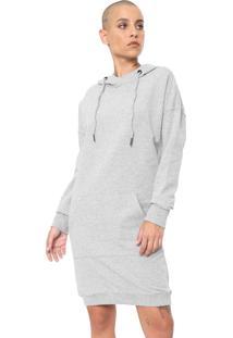 Vestido Volcom Curto In The Hoodie Cinza