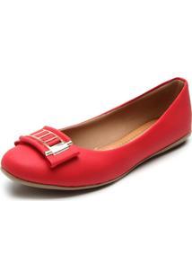 Sapatilha Bellysharm Bico Redondo Vermelha