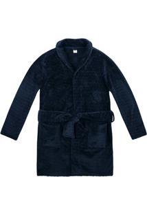Robe Feminino Em Fleece Com Amarração Frontal
