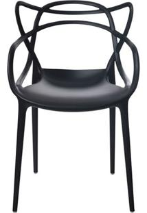 Cadeira Allegra Em Polipropileno Cor Preto - 44936 - Sun House