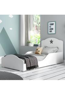 Mini Cama Montessoriana Star Plus Com Colchão 150X70Cm 100% Mdf Multimóveis Branca