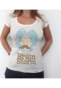 Brainstorm - Camiseta Clássica Feminina