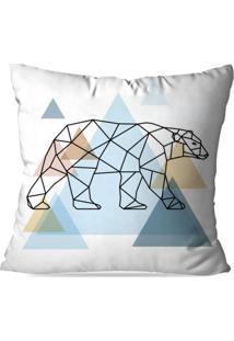 Almofada Avulsa Decorativa Urso Escandinavo