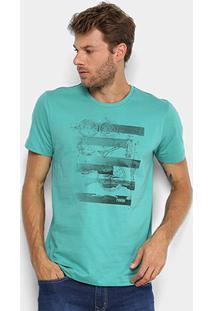 Camiseta Forum Bússola Masculina - Masculino-Verde Claro