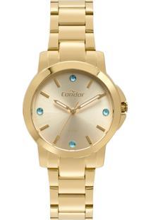 Relógio Condor Feminino Clássico Analógico Dourado Co2035Eyfk4D - Kanui
