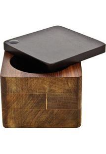Saleiro Quadrado Tramontina Design Collection 13013450 Em Madeira