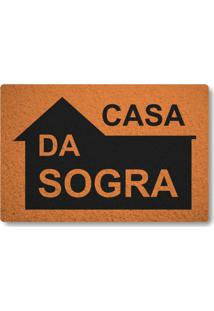 Tapete Capacho Casa Da Sogra - Laranja