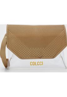 Clutch Colcci Hamburgo Dourada