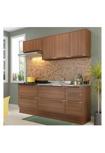 Cozinha Completa Multimóveis Com 6 Peças Calábria 5459R Nogueira