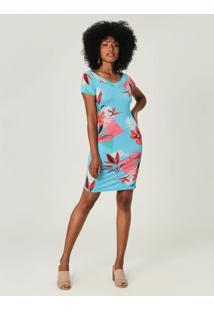 Vestido Tubinho Floral Malwee Verde - P