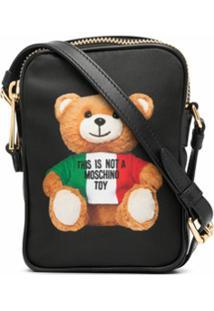 Moschino Bolsa Transversal Teddy Bear - Preto