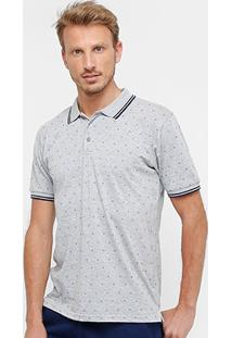 Camisa Polo Broken Rules Mini Print Masculina - Masculino