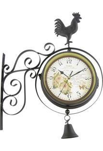 Relógio Kasa Ideia De Parede Estação Galo 53X42Cm
