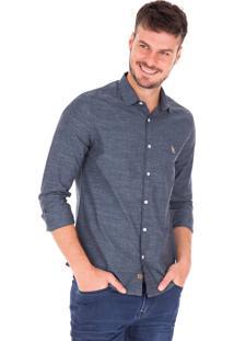 Camisa Manga Longa Side Walk Camisa Fil Azul