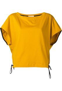 Marni Blusa Com Amarração Lateral - Amarelo