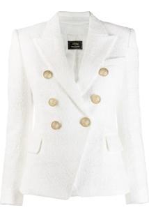 Balmain Blazer De Tweed X Julian Fashion - Branco