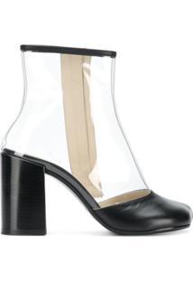 Mm6 Maison Margiela Ankle Boot Salto Bloco - Preto