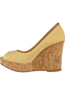 Sapato Barth Shoes Delhi Peep Toe Mostarda
