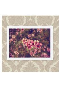 Quadro Decorativo 33X43Cm Nerderia E Lojaria Rosas Floral Preto