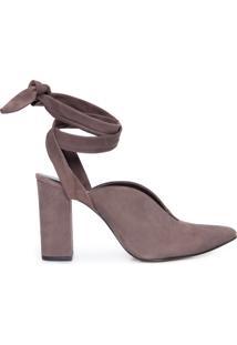 Sapato Feminino Camurça - Cinza