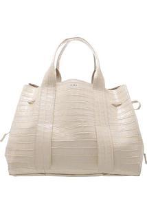 Bolsa Com Textura Animal - Bege Claroschutz