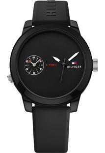 Relógio Tommy Hilfiger Masculino Borracha Preta - 1791326