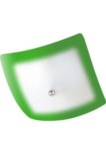 Plafon Fast Aluminio E Vidro Pfv 529 Verde Bivolt