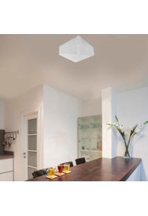Plafon Para 1 Lâmpada Quadrado Clean 25 Taschibra Branco