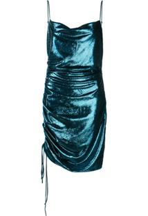 Cinq A Sept Vestido Astrid Com Pregas - Azul