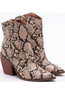 Ankle Boot Bebecê Snake Bege 33