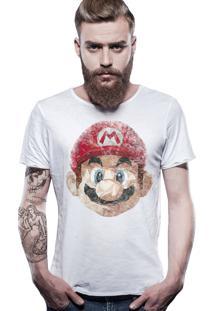 Camiseta Estonada Corte À Fio Estampada Joss Mario Bross