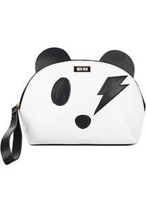Nécessaire Santa Lolla Panda Feminina - Feminino-Preto+Branco