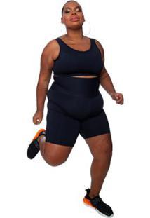 Bermuda Plus Size Wonder Size Emana Plus Feminina - Feminino