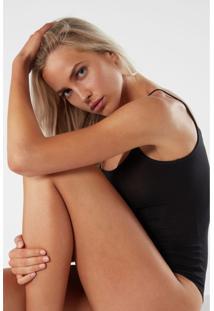 Body Feminino Sem Mangas De Alças Finas Em Micromodal Intimissimi Micromodal Preto