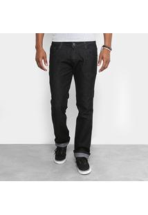 Calça Jeans Slim Fit Biotipo Escura Masculina - Masculino-Preto