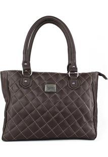 Bolsa De Couro Rebecca Café Absolut Leather.