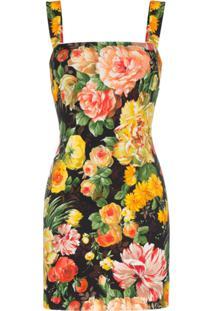 Dolce & Gabbana Vestido Cadi Floral - Amarelo